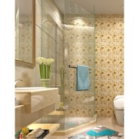 Yellow Crystal Glass Tile Backsplash Ideas Bathroom ...