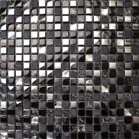 Crackle crystal mosaic diamond silver plating glass tile ...