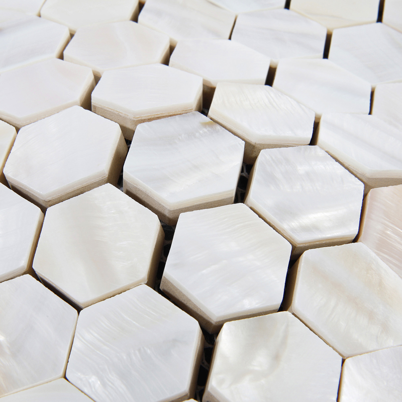 Mother of Pearl Tiles Backsplash Cheap Hexagon Mosaic