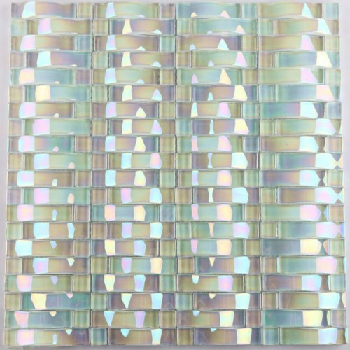 3d Peel And Stick Brick Wallpaper Iridescent Glass Mosaic Tile Sheets Arch Kitchen Mosaic