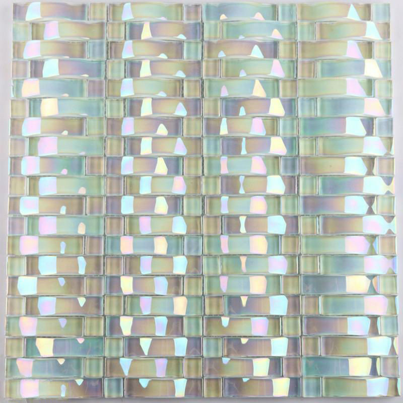 Bohemia Wallpaper 3d Iridescent Glass Mosaic Tile Sheets Arch Kitchen Mosaic