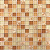 Brown glass tile backsplash ideas for kitchen walls yellow ...