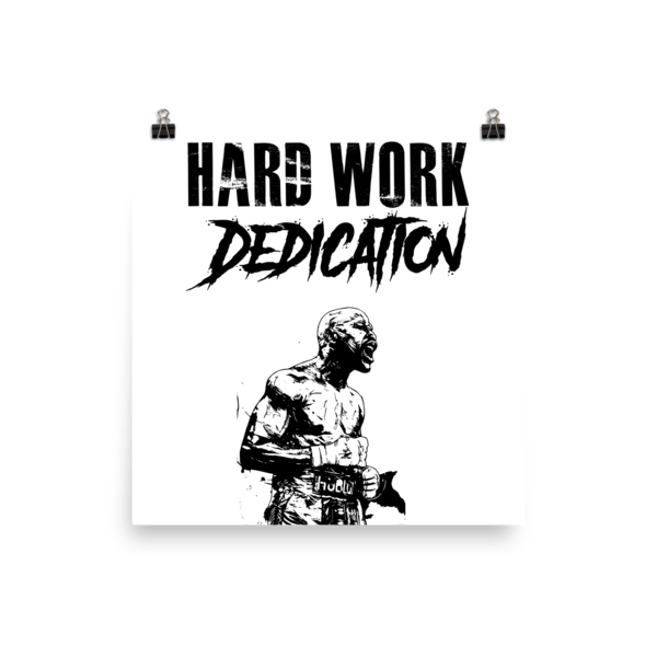 Conor Mcgregor Quote Wallpaper Floyd Mayweather Quot Hard Work Dedication Quot Poster Brawl Bros