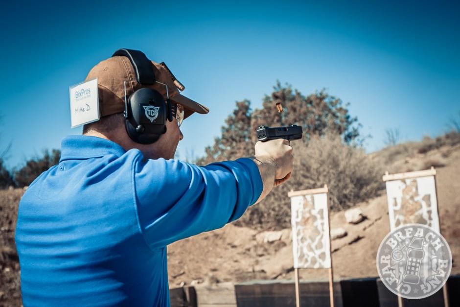 Student on the pistol range