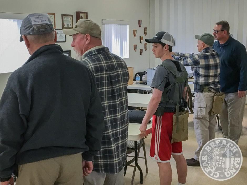 Pistol gear check before class