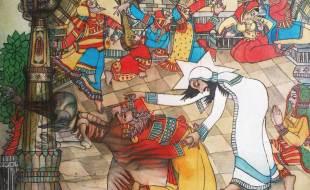 "B(2012) 10 iv domingo tc, Jesus e o demônio, Bhanu Dudhat, 2008, acrílico sobre tela, 30"" x 24"", Gujarat, India_"
