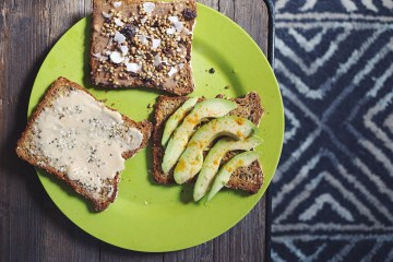 Tahini Almond butter and avocado toast recipes by Sasha Nelson | Breakfast Criminals