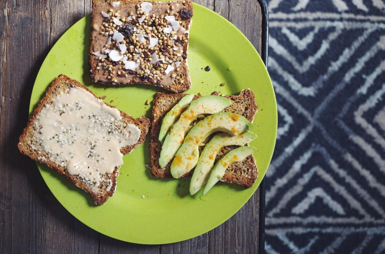 Tahini Almond butter and avocado toast recipes by Sasha Nelson   Breakfast Criminals