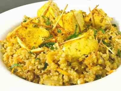 Quinoa and Tofu Pilaf
