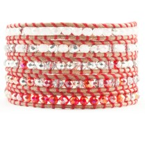 Red Crystal Mix Wrap Bracelet. Chan Lu has several colors to choose from. Choose your teams colors and you are ready to go.