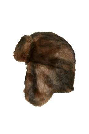 Faux Fur Bear Trapper Hat