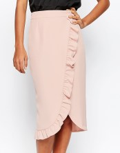 Wrap Skirt With Ruffle Detail