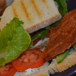 BLTA's with Garlic Basil Cream Cheese Spread