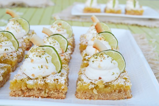 Key Lime Coconut Bars