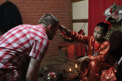 In Nepal wurde ich von einer lebenden Göttin gesegnet
