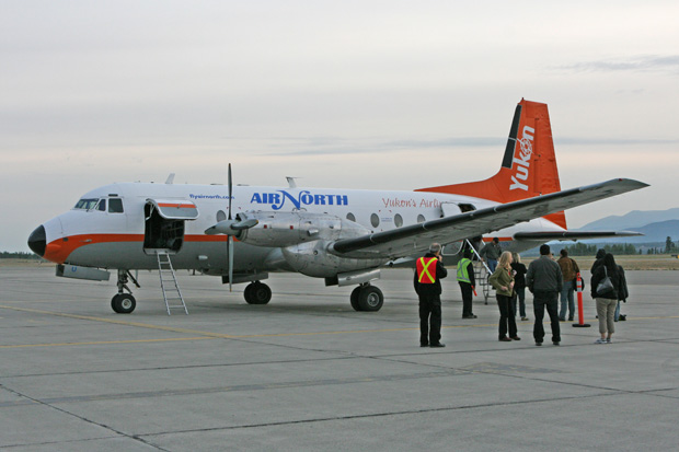 Im kanadischen Yukon konnte ich mit einer HS748 fliegen.