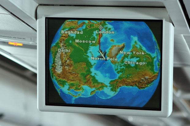 Am 1. Mai 2009 kreiste ich über dem Nordpol.