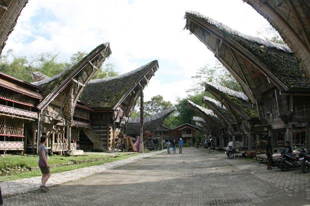 Typische Ansicht im Toraja-Land.