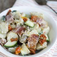 Aardappelsalade met spek