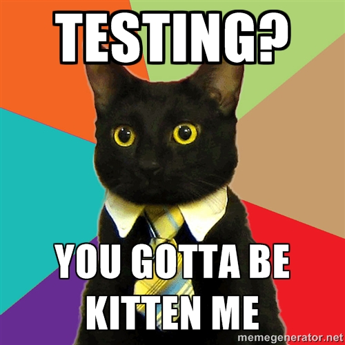 testing you gotta be kitten me meme