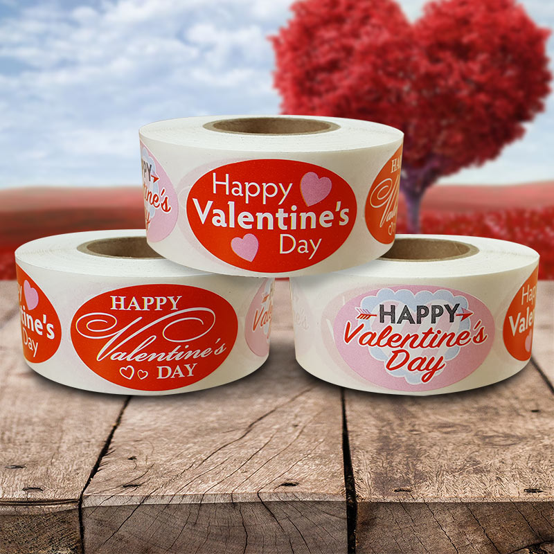 Seasonal Labels Valentines Day Label - Roll of 500