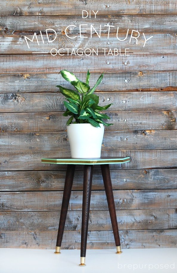 DIY Mid Century Octagon Table