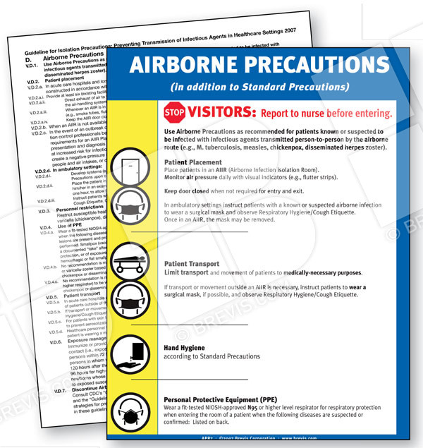Airborne Precautions Sign, English only - Brevis - isolation precautions