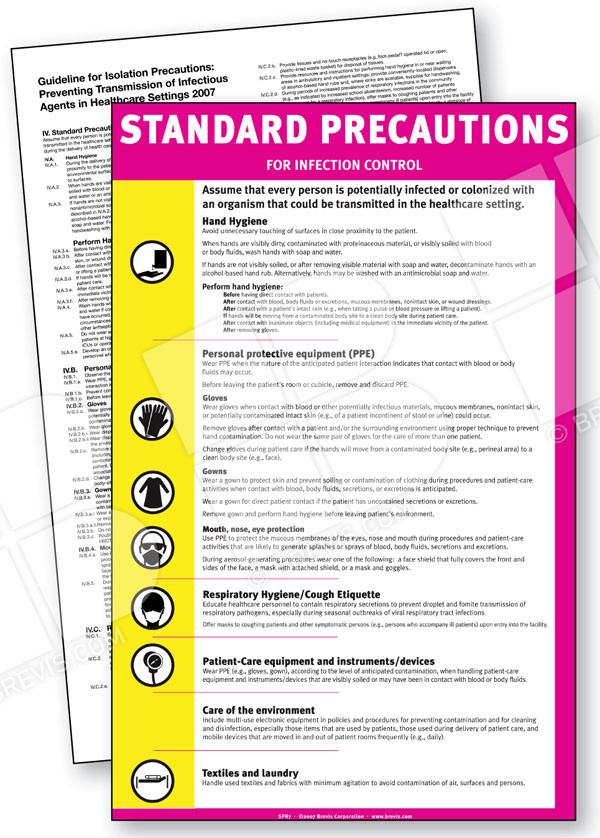 Standard Precautions Sign - Brevis - isolation precautions