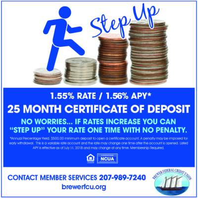Certificate Rates - Brewer Federal Credit Union