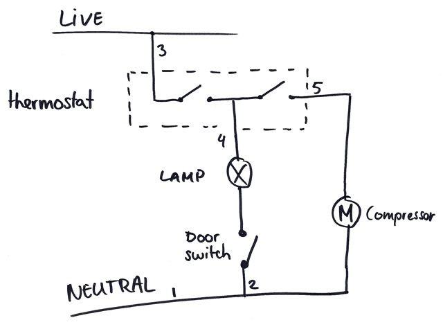 fridge thermostat wiring diagram fridge thermostat connection