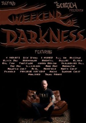 Event poster for The Scratch Weekend of Darkness, July 2014