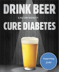 Event poster for Drink Beer Cure Diabetes at Brewski on Oct 25