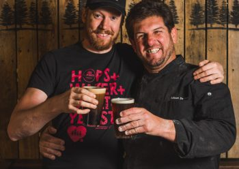 L-R: 4 Pines brewer Garrett Sherman with executive chef Rob de Paulo