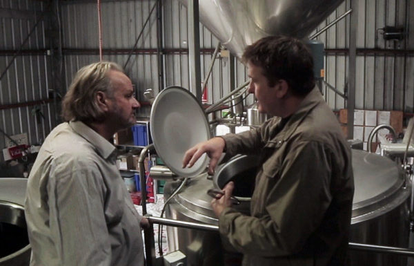 Willie Simpson and Brad Rogers on the brew day