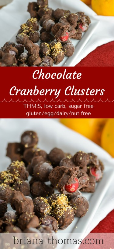 Cranberry Chocolate Clusters - Briana Thomas