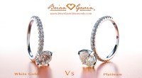 White Gold vs Platinum for Engagement Rings & Jewelry!