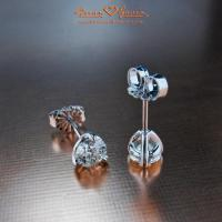 Diamond stud earrings for Valentines Day