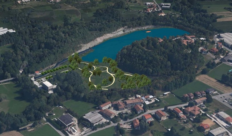 Parco di Brenno rendering ex cava