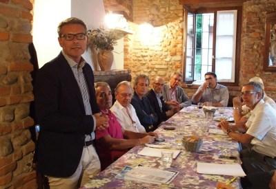 Il Presidente di Brianzacque Enrico Boerci in un recente incontro stampa all'Hostaria del Punt a Triuggio