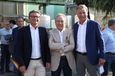 Da sinistra nella foto: il Presidente di Brianzacque Enrico Boerci, il Presidente dell'ATO Silverio Clerici e il Sindaco di Monza Dario Allevi