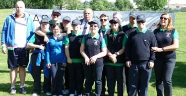 I ragazzi diversamente abili dell'AIAS Monza impegnati nella pratica del golf