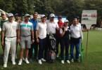 Il team di Sergio Garcia alla Rolex Pro.Am. Da sinistra: Stefano Mazzoli, Sergio garcia, Lorenzo Scalise e Alessia Nobilio