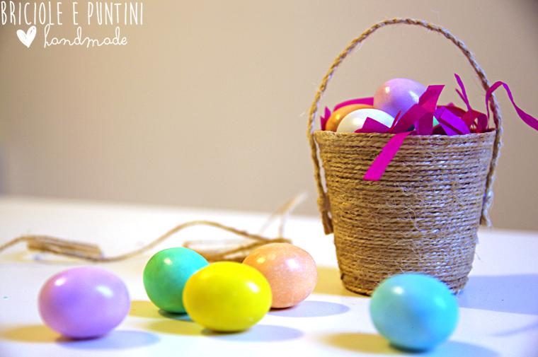 cestino porta ovetti di Pasqua fai da te