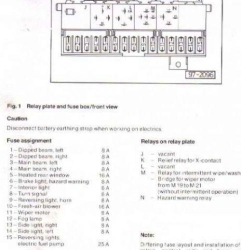 vw t4 fuse box wiring diagram