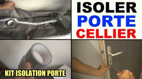isoler une porte de cellier, service, garage kit isolation porte