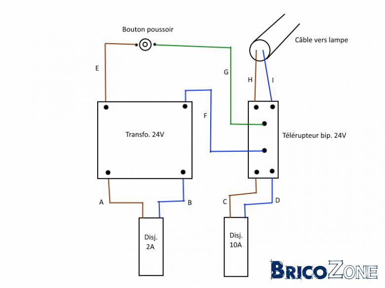 british motor schema cablage telerupteur