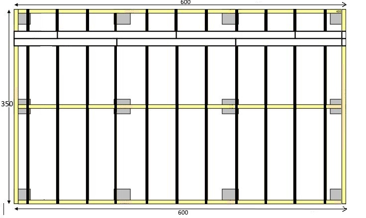 Aide terrasse bois double structure - Epaisseur Lambourde Terrasse Bois