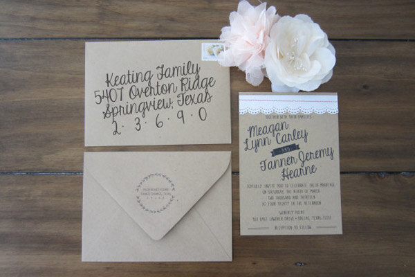 Beautiful Wedding Invitations You Can Make Yourself BridalGuide - Best Of Handmade Formal Invitation Card