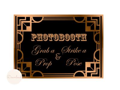 Gatsby, Art Deco, Roaring Twenties Wedding Signs, Bridal Shower