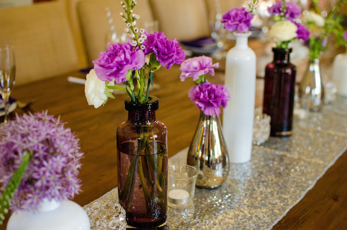 Purple And Silver Bridal Shower Ideas Themes